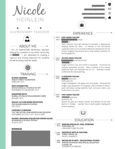 Free Resume Templates And Ideas For A Creative Teacher Resume