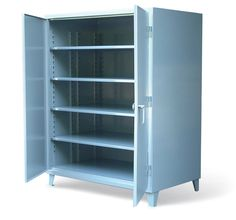 36 Inch Extra Deep Floor Model - Our standard 36 inch heavy duty 12 gauge cabinet. This includes 14 gauge shelves that can be adjusted in 2 inch increments. 3-point locking device can be locked with a standard padlock.