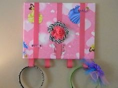 Disney Princess with Hearts Hair Bow and by naptimepillowsnmore, $20.00