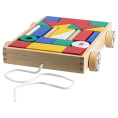MULA 24 building blocks with wagon - IKEA - $15