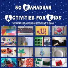 50 Ramadhan Activities for Kids Islamic Books For Kids, Islam For Kids, Kwanzaa Principles, Moon Activities, Stuff To Do, Things To Do, Happy Kwanzaa, Ramadan Crafts, Kids Up
