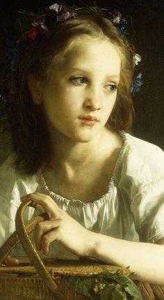 """la petite ophelie"" | william adolphe bouguereau"