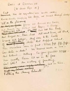 siegfried sassoon s died of wounds manuscript from the  siegfried sassoon s died of wounds manuscript 1916 from the first world war poetry digital archive world war 1 digital archives and wwi