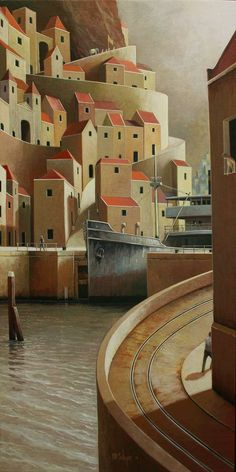 Michiel Schrijver - Silence of the city. 100 x 50 cm. 2011