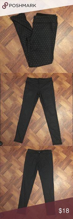Gap Leggings Black and white polka dots, full length, GapFit GAP Pants Leggings