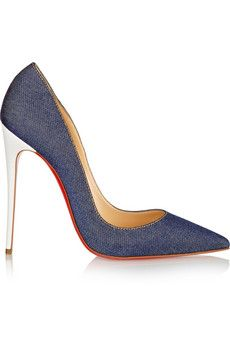 There are going to be in my closet very soon!! <3 Christian Louboutin So Kate 120 denim pumps   NET-A-PORTER