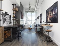 This fabulous modern loft space was designed for a professional photographer, completely gutted and re-designed by Rad Design, located in Toronto, Canada.