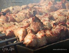 Шашлык из свинины в маринаде из киви