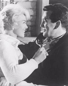 ~Doris & Rock ~*   I know they really loved each other, not even in the movies.  You can't fake that look!