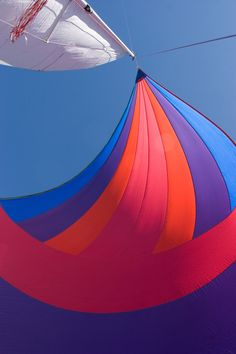 this might be one of my favorite spinnaker pics ever: Spinnaker Sailing - Beautiful Colours | by Jim Larson