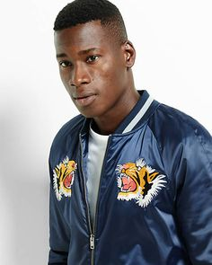embroidered souvenir bomber jacket