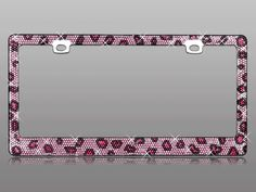 Girly car bling. Rhinestone crystal license plate frame from CarDecor.com.