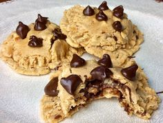 Food Fitness by Paige: Triple Layer Peanut Butter Chocolate Cookies