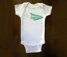 Onesies. The real reason people have babies. Paper Airplane Onesie, $12.99 via @uncovet