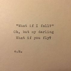 Erin Hanson Hand Typed Quote On Vinatge Typewriter Cards Against Humanity