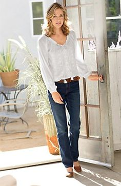 embroidered peasant blouse jjill
