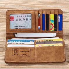 Vertical PU Leather Wallet 13 Card Slots Card Holder Casual Bill Holder For Men - US$10.99
