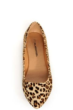City Classified Sadler Tan Cheetah Pointed Flats - $19.00    LOVE THESE ... they just came in and they look great with my work outfits!!