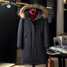 JUNGLE ZONE 2017 Winter Men's Duck Down Jackets long casual down jacket thickening Warm Clothing Natural fur collar 1702 http://thegayco.com/products/jungle-zone-2017-winter-mens-duck-down-jackets-long-casual-down-jacket-thickening-warm-clothing-natural-fur-collar-1702?utm_campaign=crowdfire&utm_content=crowdfire&utm_medium=social&utm_source=pinterest