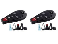 Two Keyless Entry Remote Replacement Shell Cases 5 Buttons Smart Key IYZ-C01C
