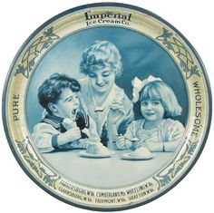 Imperial Ice Cream Co. Tin Serving Tray : Lot 935
