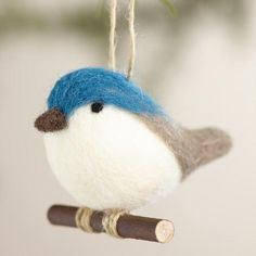 One of my favorite discoveries at WorldMarket.com: Felt Bird Ornaments, Set of 2