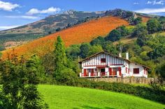 French Basque Country is beautiful and different with white stone houses with painted woodwork, a gorgeous coast and a culture as Spanish as French.