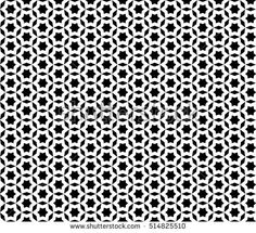 Vector monochrome seamless pattern. Black & white mosaic ornamental texture, repeat abstract background. Design element for printing, stamping, decoration, wallpaper, package, textile, digital, web