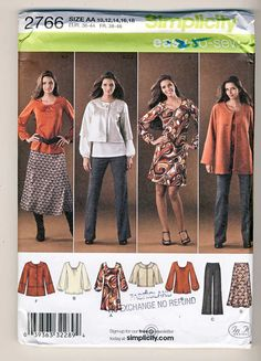 Simplicity 2766 Misses PantsSkirtJacket 2 by Noahslady4Patterns