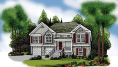 The Dayton by American Gables: 1781 Square Feet 3 Bed/2 Bath, Traditional Style House Plan