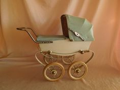 1950's-60's  Miniature Doll Pram Made in France by RED