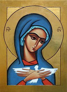 Zapraszam do galerii, gdzie prezentuję malowane przeze mnie ikony. Można zamówić wybraną pracę lub zaproponować inną.  Technika: tempera żółtkowa, złoto, deska. Catholic Art, Religious Art, Religious Pictures, Holy Mary, Blessed Virgin Mary, Art Icon, Orthodox Icons, Art For Art Sake, Angel Art