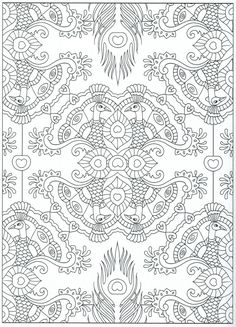 Peacock Coloring Page For Adults 9 31