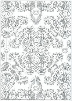 Mehndi Coloring Page Henna Adult Printable PDF Original