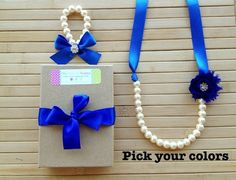 Sparkly custom shabby chic jewelry set - royal blue - pick your colors -  by MissSweetPeaBoutique, $22.00