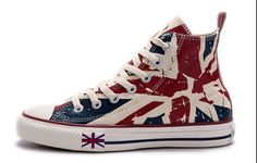 acc7864d28ea2c Discover the Blue CONVERSE British Flag Print All Star Beige Red Canvas  London Shoes Online 238100 group at Pumaslides. Shop Blue CONVERSE British  Flag ...