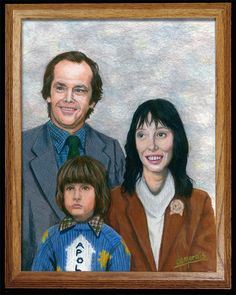 """Kirk Demarais, """"The Torrances"""", Colored Pencil, 11"""" x 14"""", 2008, For """"Crazy 4 Cult 2"""" show at Gallery1988"""