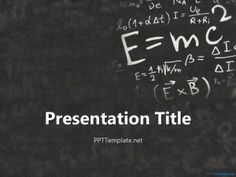 Einstein Physics PPT Template for Math and Physics subjects classroom education PowerPoint presentation