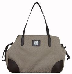 Women's Tommy Hilfiger Shopper Handbag (Beige Alpaca/Brown) *** Find out more about the great product at the image link.