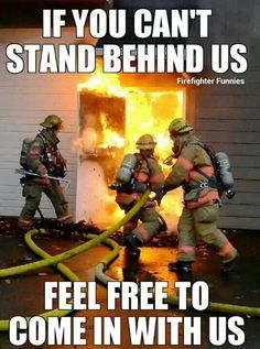 Firefighters in action.