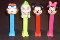 4 Vintage Pez 1966-70's-90's Mickey,Minnie,Garfield,Disney (footed)