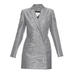 Antonio Berardi Honeycomb Prince of Wales-check blazer (2,820 CAD) ❤ liked on Polyvore featuring outerwear, jackets, blazers, blue multi, jacquard blazer, jacquard jacket, blue jackets, lined jacket and antonio berardi