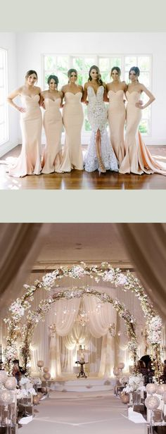 bridesmaid dresses, plus size bridesmaid dresses, Champagne Bridesmaid Dress, Mermaid Bridesmaid Dress,wedding decoration