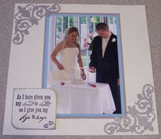 A LO I worked on for my wedding parent album for the inlaws Scrapbook Templates, Scrapbook Designs, Scrapbooking Layouts, Wedding Art, Wedding Album, Wedding Ideas, Unity Candle, Candles, Wedding Scrapbook Pages