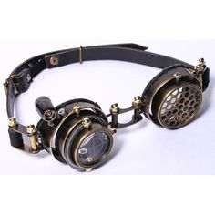 6863217637f Bronze Leather Vintage Steam Punk Steampunk Style Eyewear Goggles  SKU-71116011