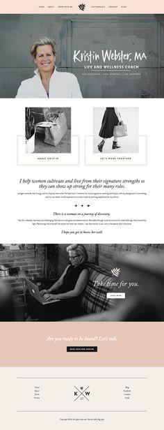 Squarespace site for kristinwebstercoaching.com. Design and branding by Hello Big Idea. hellobigidea.com