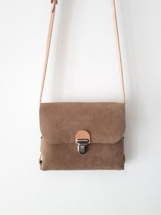 Small light brown leather festival bag, Handy cross body night out bag for woman Small Leather Bag, Leather Bags, Leather Handbags, What Sells On Etsy, Sell On Etsy, Leather Skin, Brown Leather, Leather Festival Bags, Soft Suede