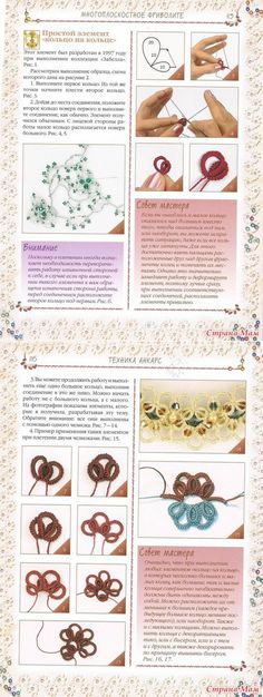 Multiplane weaving according to the book Stepnoy – Tatting – Country Mom Thread Crochet, Crochet Lace, Needle Tatting Tutorial, Tatting Patterns Free, Tatting Lace, Lace Making, Ribbon Embroidery, Crochet Projects, Needlework