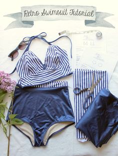 Ohhh Lulu...: Sarah & Ava Retro Swimsuit Tutorial Part 2 #swimsuit #sewing