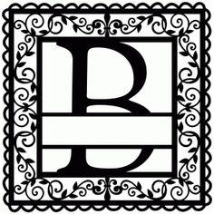 Silhouette Design Store - View Design wrought iron vine initial b Cricut Monogram, Cricut Fonts, Monogram Decal, Monogram Letters, Monogram Initials, Vine Monogram, Wood Letters, Cricut Vinyl, Letter Decals